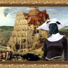 Spanish Greyhound Fine Art Canvas Print - The Tower of Babel