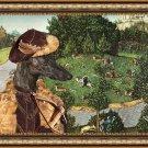 Spanish Greyhound Fine Art Canvas Print - Deer's Hunt
