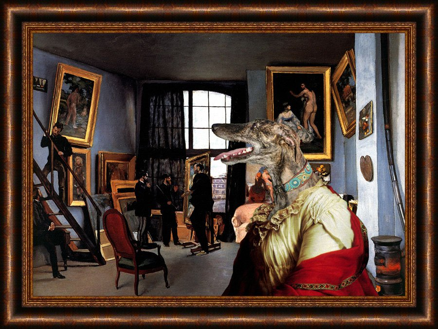 Spanish Greyhound Fine Art Canvas Print - Dealer Paintings