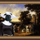 Spanish Greyhound Fine Art Canvas Print - Arrival of King