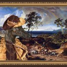 Spanish Greyhound Fine Art Canvas Print - The Landscape with Hunters