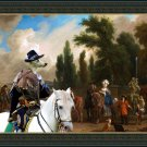 Whippet Fine Art Canvas Print - The Galland Escort and Lord Falconer