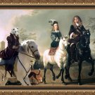 Whippet Fine Art Canvas Print - The Gossip Countess