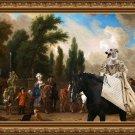Whippet Fine Art Canvas Print - The Gallant Escort