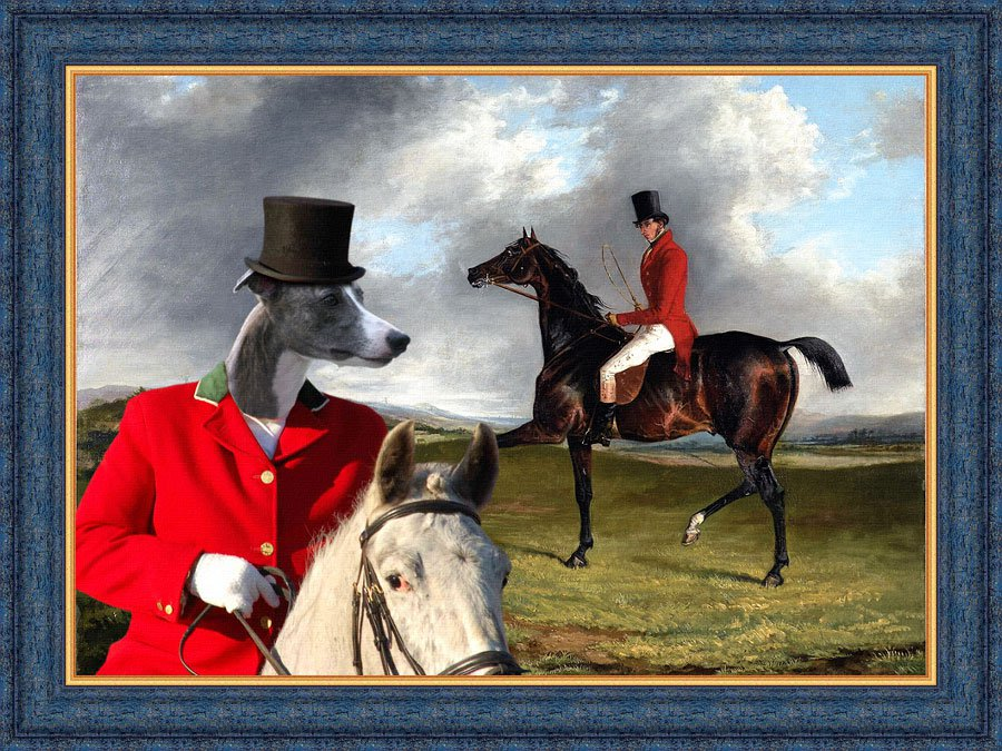 Whippet Fine Art Canvas Print - A Sportsman thrown out