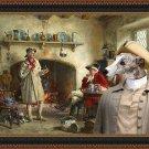Whippet Fine Art Canvas Print - The Shepherd's Tale