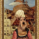 Airedale Terrier Fine Art Canvas Print - The Tower of Babel