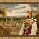 Airedale Terrier Fine Art Canvas Print -  Fair day ends