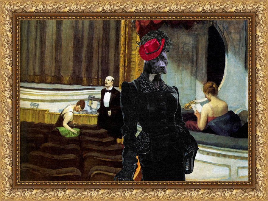 American Staffordshire Terrier Fine Art Canvas Print -  Before the start of premiere