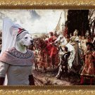 American Staffordshire Terrier Fine Art Canvas Print -  The reverance to the Queen