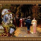 Silky Terrier Fine Art Canvas Print - Les Fiances