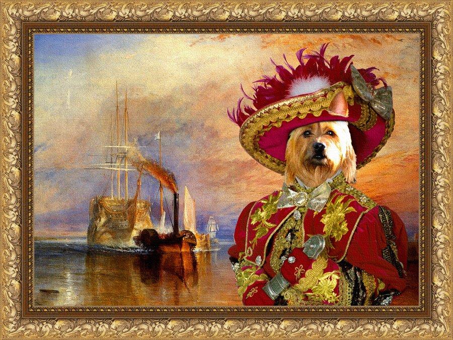Australian Terrier Fine Art Canvas Print - The fighting Temeraire