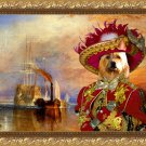 Australian Terrier Fine Art Canvas Print - The fighting Temeraire