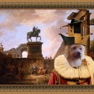 Australian Terrier Fine Art Canvas Print - A capriccio with troubadours