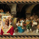 Australian Terrier Fine Art Canvas Print - Falero the party at the tavern