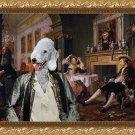 Bedlington Terrier Fine Art Canvas Print - Bid for marriage