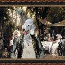 Bedlington Terrier Fine Art Canvas Print - The Garden Party