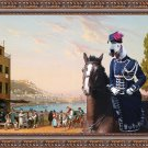 Bedlington Terrier Fine Art Canvas Print - View a bay