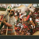 Border Terrier Fine Art Canvas Print - The happy Warrior