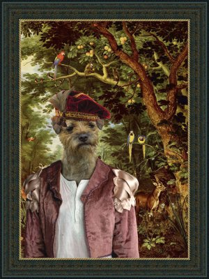 Border Terrier Fine Art Canvas Print - The Paradise