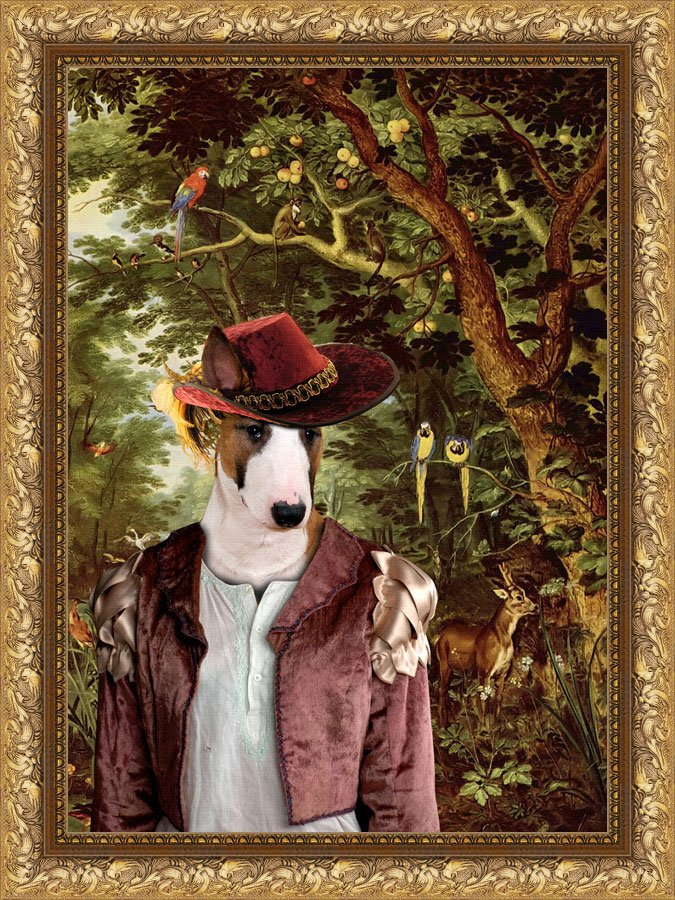 Bull Terrier Fine Art Canvas Print - The Paradise