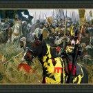 Bull Terrier Fine Art Canvas Print - Win or Die !!!