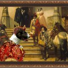 Bull Terrier Fine Art Canvas Print - Scene from Musketeers Life
