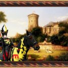 Bull Terrier Fine Art Canvas Print - The Past