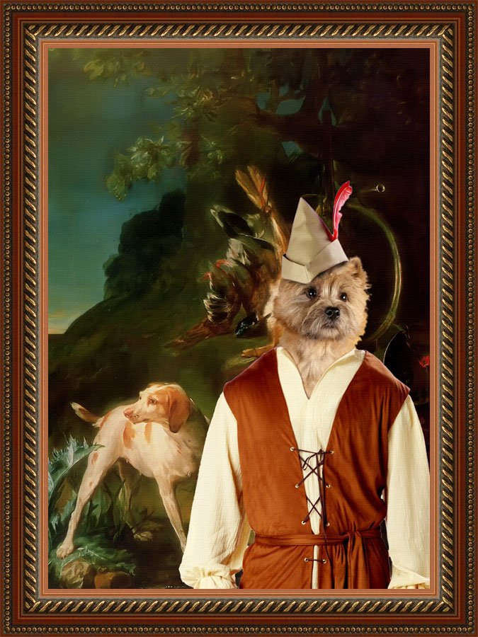 Cairn Terrier Fine Art Canvas Print - After the hunt