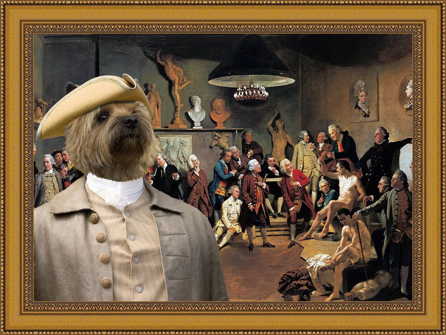 Cairn Terrier Fine Art Canvas Print - The Academicians of the Royal Academy