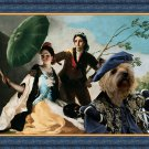 Cairn Terrier Fine Art Canvas Print -  Couple in love