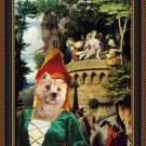 Cairn Terrier Fine Art Canvas Print - Who's passing by