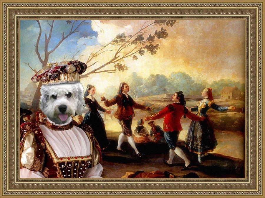Dandie Dinmont Terrier Fine Art Canvas Print - Danse sur les bords de Manzaamares