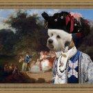 Dandie Dinmont Terrier Fine Art Canvas Print - Garden play