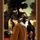 English Toy Terrier Fine Art Canvas Print - Andalousie promenade