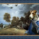 Fox Terrier Wire Fine Art Canvas Print - Falconers