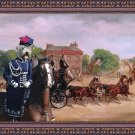 Irish Glen of Imaal Terrier Fine Art Canvas Print - Drags of the Four in Hand Club