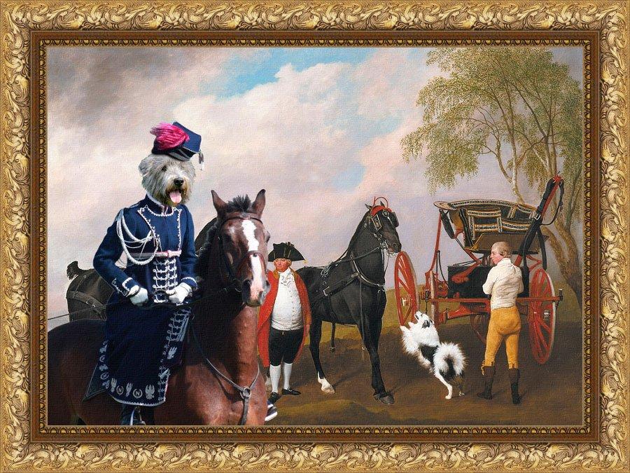 Irish Glen of Imaal Terrier Fine Art Canvas Print - The Prince of Wales's Phaeton