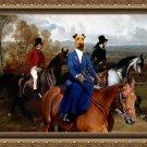 Irish Terrier Fine Art Canvas Print - Equistrian promenade