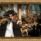 Jack Russell Terrier Fine Art Canvas Print - Battle of the Nelson on Trafalgar