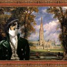 Jack Russell Terrier Fine Art Canvas Print - Salisbury Cathedral