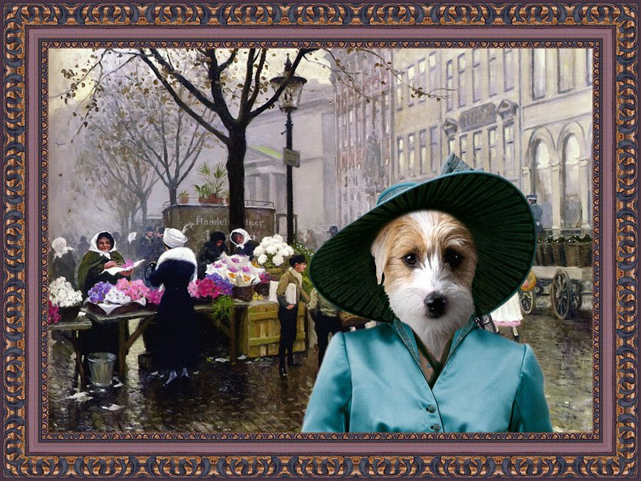 Jack Russell Terrier Fine Art Canvas Print - The Flower Market Copenhagen