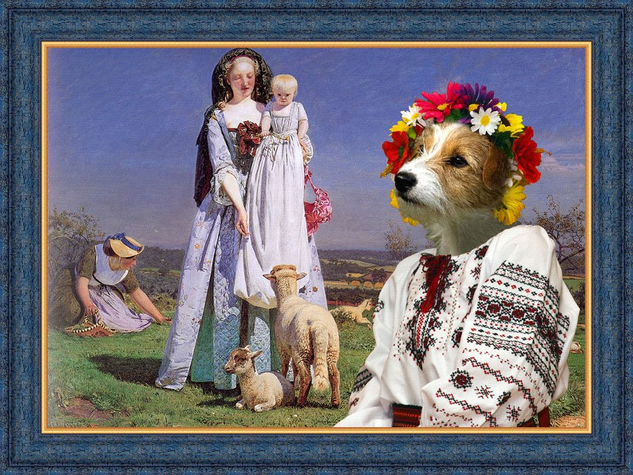 Jack Russell Terrier Fine Art Canvas Print - The Pretty Baa Lambs