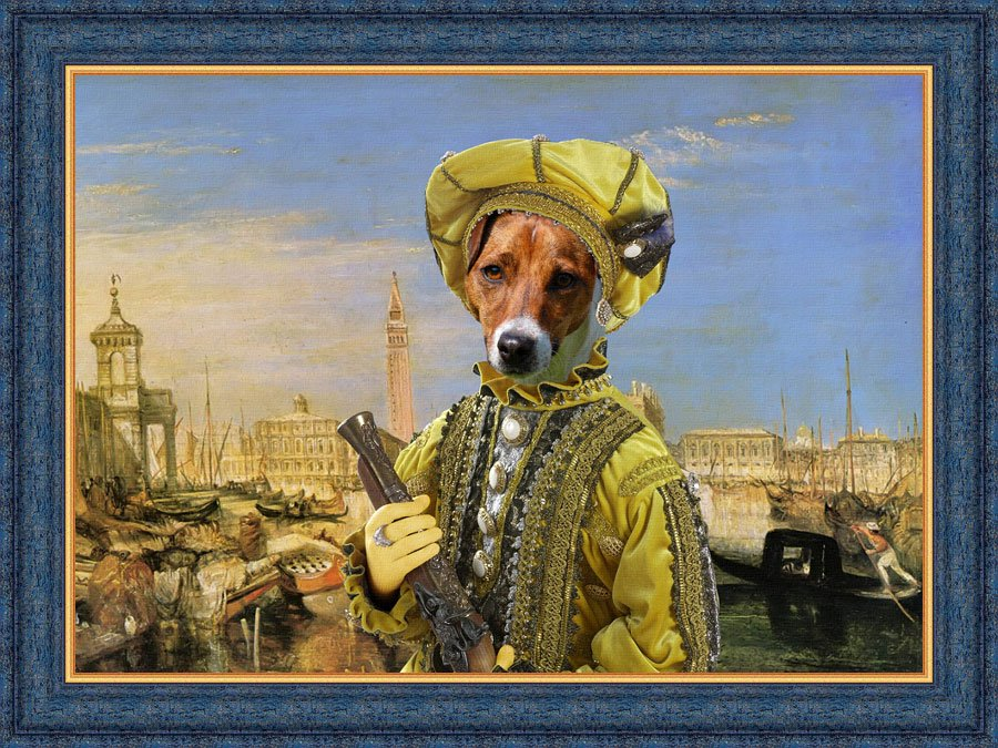Jack Russell Terrier Fine Art Canvas Print -  Invitation to a duel