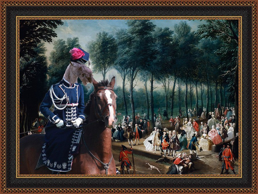 Kerry Blue Terrier Fine Art Canvas Print - St James's Park and The Mall