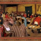 Lakeland Terrier Fine Art Canvas Print - The Wedding banquet