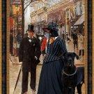 Manchester Terrier Fine Art Canvas Print -  On the boulevar Sun
