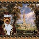 Norfolk Terrier Fine Art Canvas Print - Salisbury Cathedral