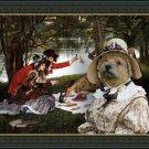 Norwich Terrier Fine Art Canvas Print - Partie Carree