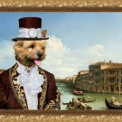 Norwich Terrier Fine Art Canvas Print - Venice at Sun noon